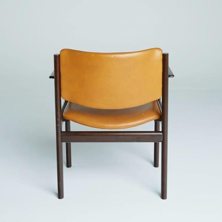 Danish Mid-Century Modern Rosewood Armchairs, circa 1960, Signed 1