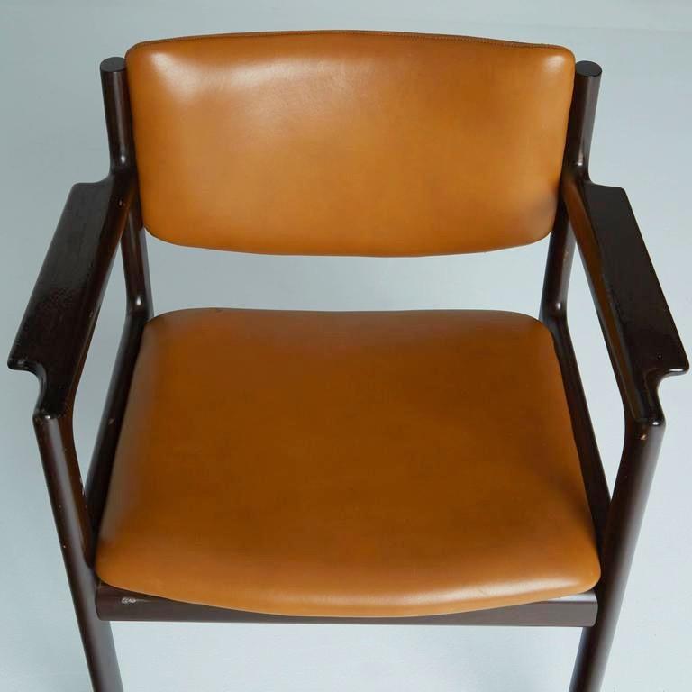 Danish Mid-Century Modern Rosewood Armchairs, circa 1960, Signed 2