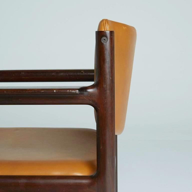 Danish Mid-Century Modern Rosewood Armchairs, circa 1960, Signed 3