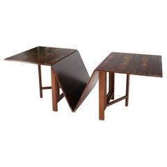 Danish Mid-Century Modern Rosewood Gate Leg Maria Dining Table Bruno Mathsson