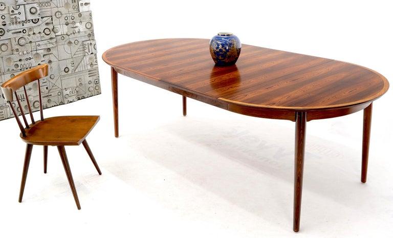 Danish Mid Century Modern Round Rosewood Dining Table 2