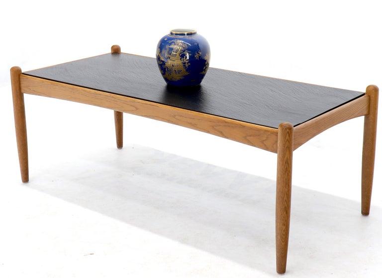 Danish Mid-Century Modern Slate Top Teak Frame Coffee ...