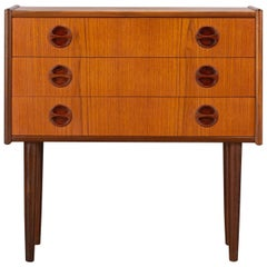 Danish Mid-Century Modern Small Teak Chest of Drawers, 1960s