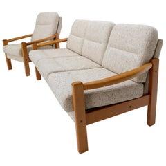 Danish Mid-Century Modern Sofa and Matching Chair Set