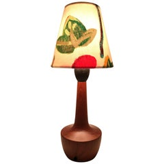 Danish Mid-Century Modern Solid Teak Table Lamp