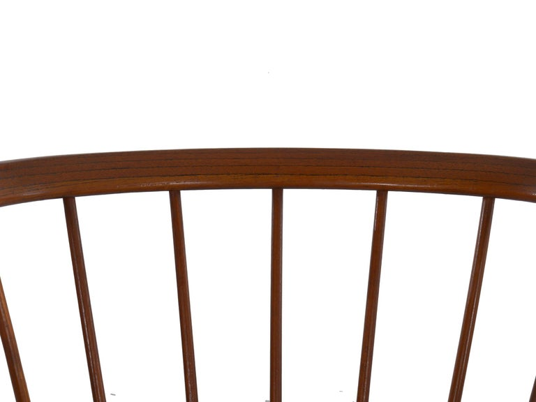 """Danish Mid-Century Modern Spindle-Back Armchair """"No. 8"""" by Helge Sibast For Sale 5"""
