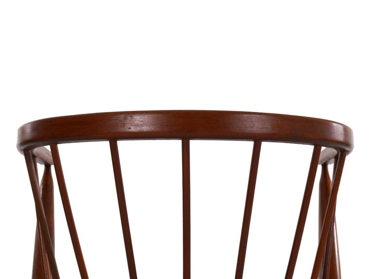 """Danish Mid-Century Modern Spindle-Back Armchair """"No. 8"""" by Helge Sibast For Sale 7"""