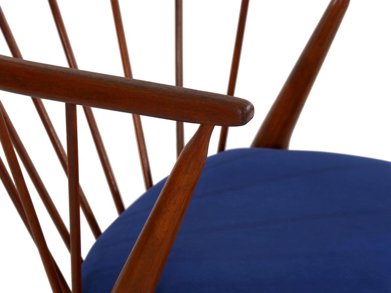 """Danish Mid-Century Modern Spindle-Back Armchair """"No. 8"""" by Helge Sibast For Sale 11"""