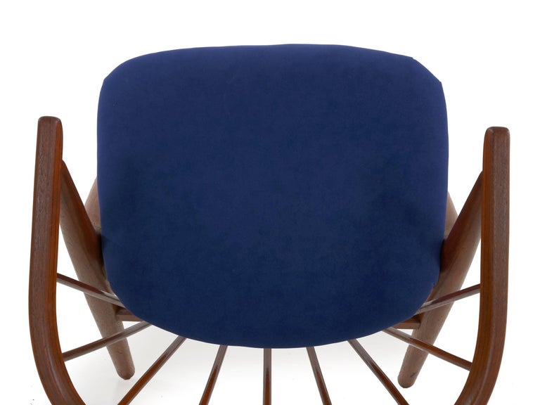 """Danish Mid-Century Modern Spindle-Back Armchair """"No. 8"""" by Helge Sibast For Sale 13"""