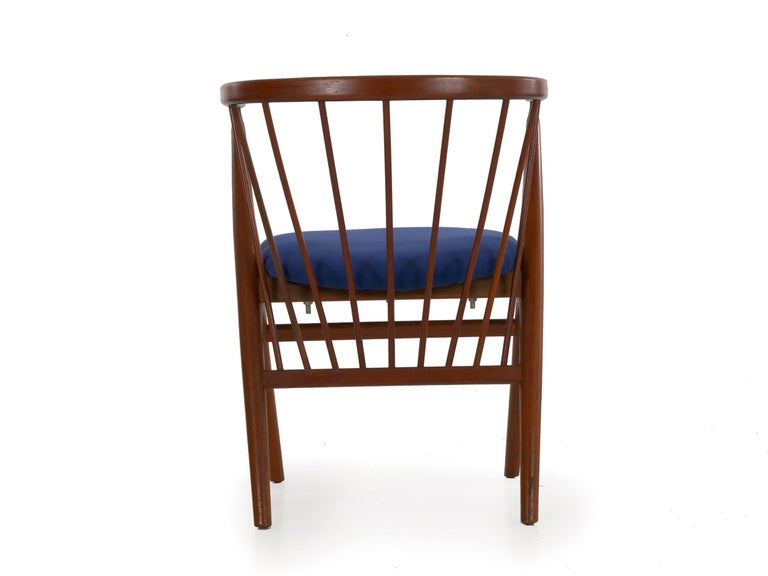 """20th Century Danish Mid-Century Modern Spindle-Back Armchair """"No. 8"""" by Helge Sibast For Sale"""