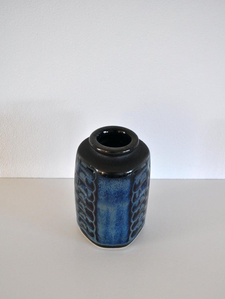 Glazed Danish Mid-Century Modern Stoneware Vase by Einar Johansen for Søholm, 1960s For Sale