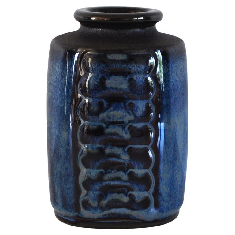 Danish Mid-Century Modern Stoneware Vase by Einar Johansen for Søholm, 1960s For Sale