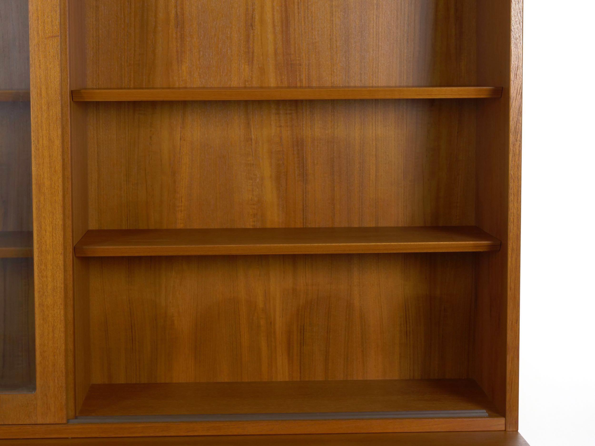 Danish Mid Century Modern Teak Bookcase Bookshelf Cabinet By Poul Hundevad