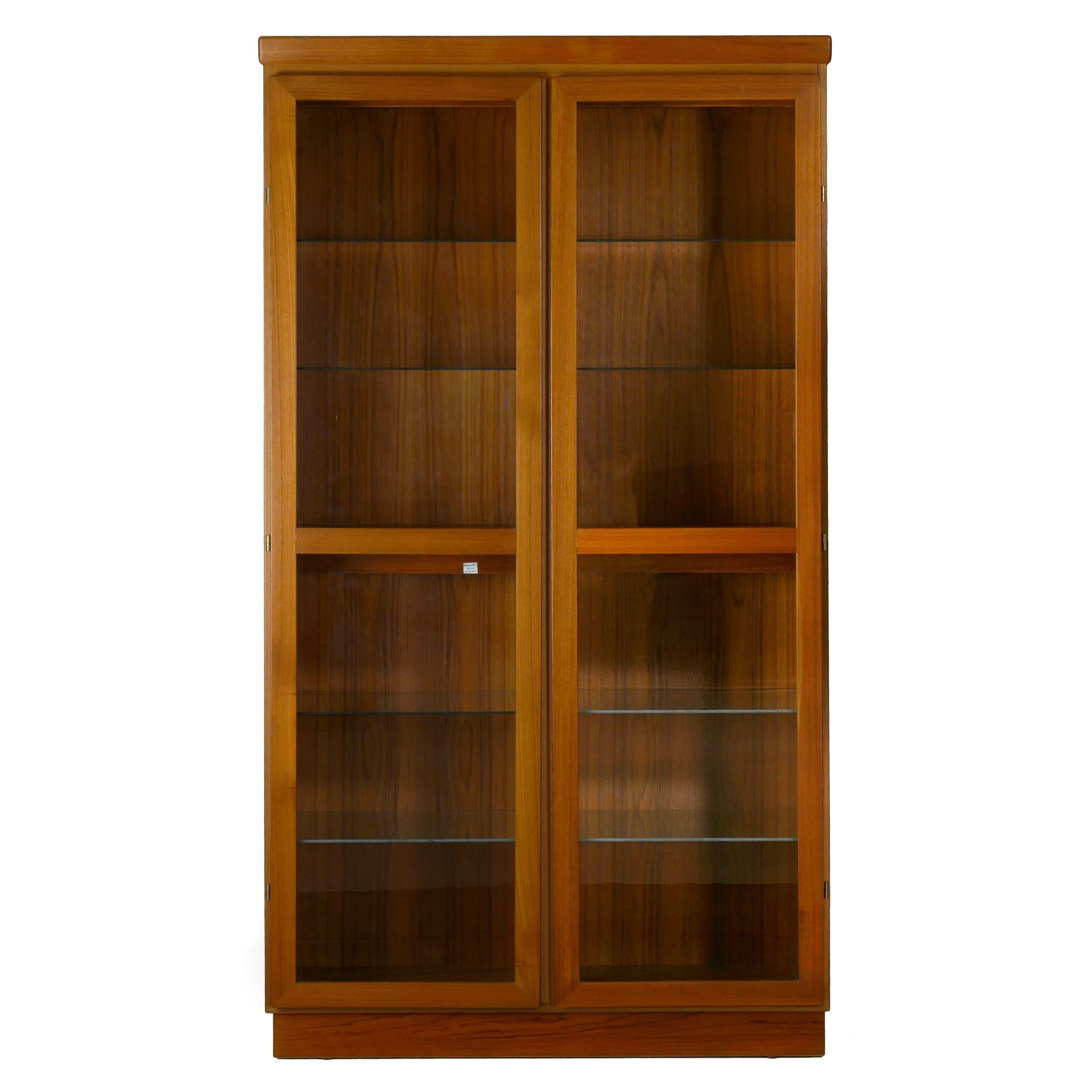 Danish Mid Century Modern Teak Display Cabinet Bookshelf By Skovby