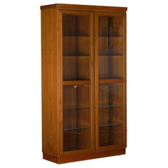 Danish Mid-Century Modern Teak Display Cabinet Bookshelf by Skovby