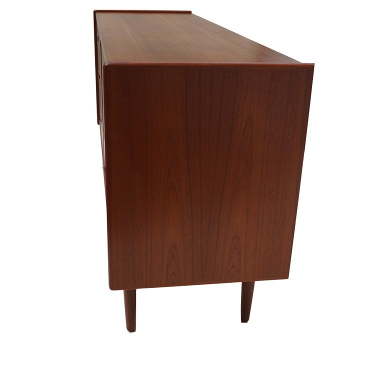 Other Danish Mid-Century Modern Teak Dresser Buffet Sideboard Manner of Arne Vodder For Sale