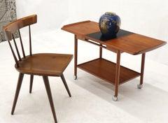 Danish Mid-Century Modern Teak Expandable Cart with One Leaf