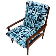 Danish Mid-Century Modern Teak Lounge Chair by Grete Jalk No. 56