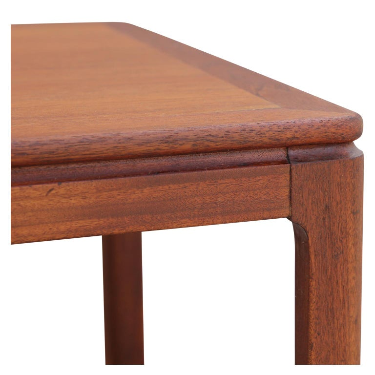 Danish Mid-Century Modern Teak Rectangular Side Table In Good Condition For Sale In Houston, TX
