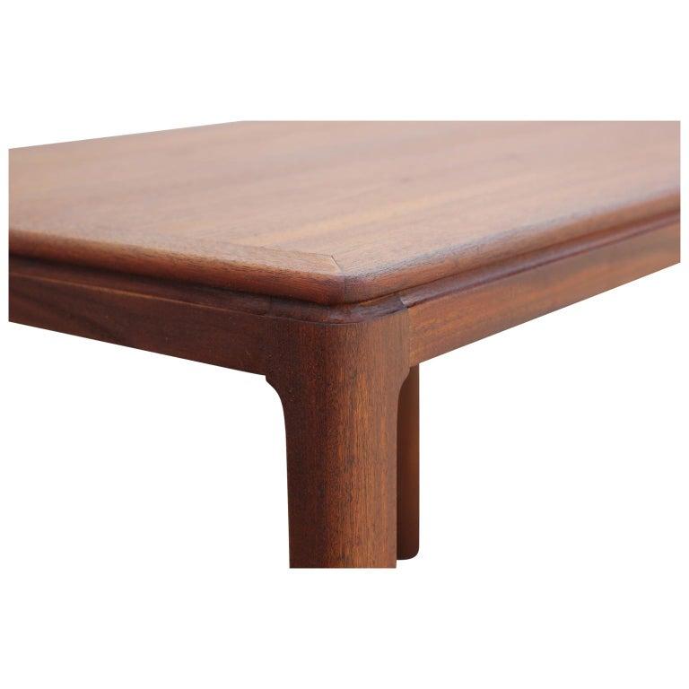 20th Century Danish Mid-Century Modern Teak Rectangular Side Table For Sale