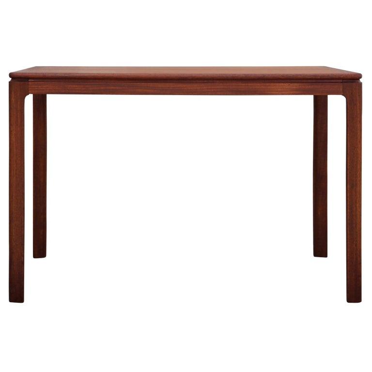Danish Mid-Century Modern Teak Rectangular Side Table For Sale