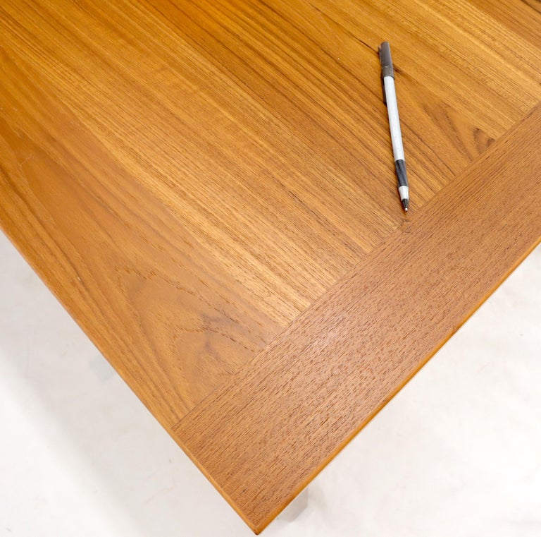 Danish Mid-Century Modern Teak Refectory Dining Table Leaves For Sale 5