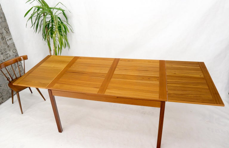 Danish Mid-Century Modern Teak Refectory Dining Table Leaves For Sale 6