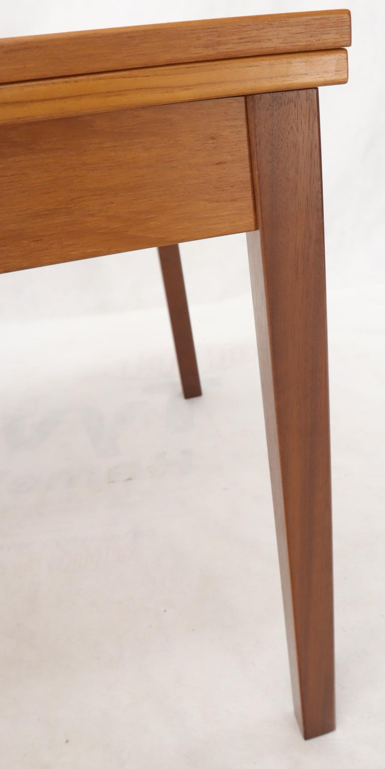 Danish Mid-Century Modern Teak Refectory Dining Table Leaves For Sale 8
