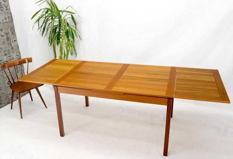 Classic Danish Mid-Century Modern rectangular refectory dining table. Made in Denmark. Measures: 2 x 20