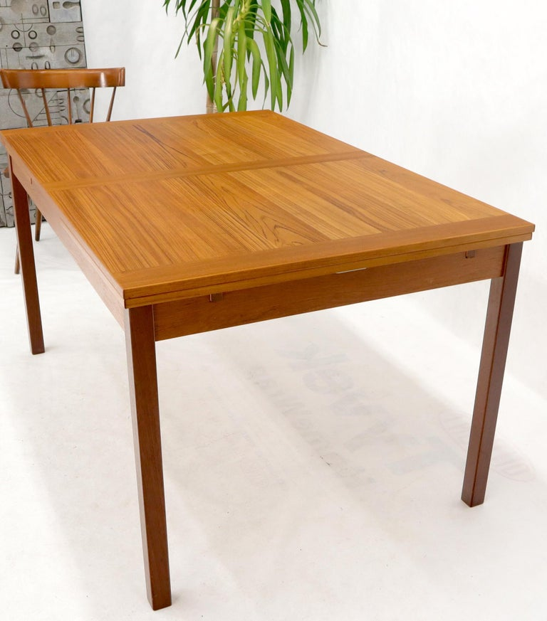 20th Century Danish Mid-Century Modern Teak Refectory Dining Table Leaves For Sale