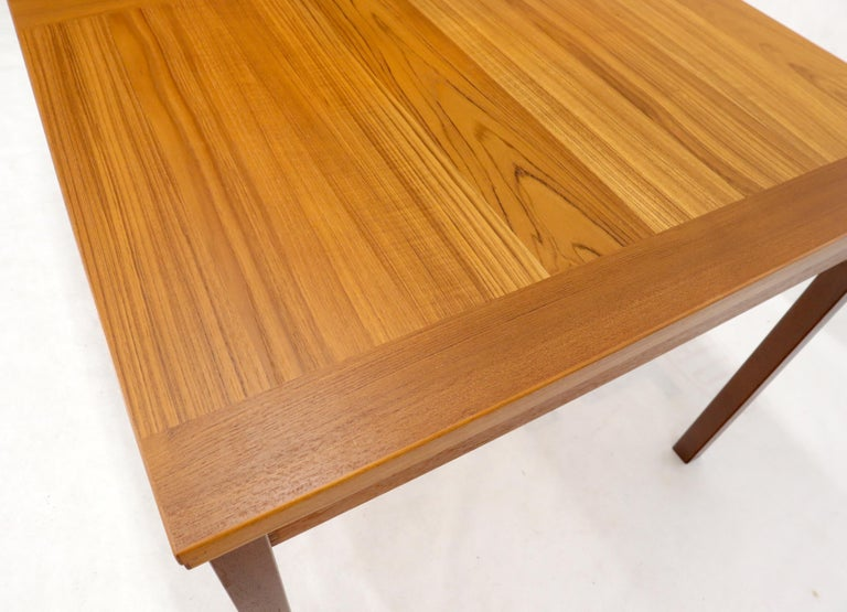 Danish Mid-Century Modern Teak Refectory Dining Table Leaves For Sale 2