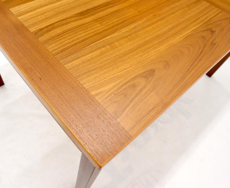 Danish Mid-Century Modern Teak Refectory Dining Table Leaves For Sale 3