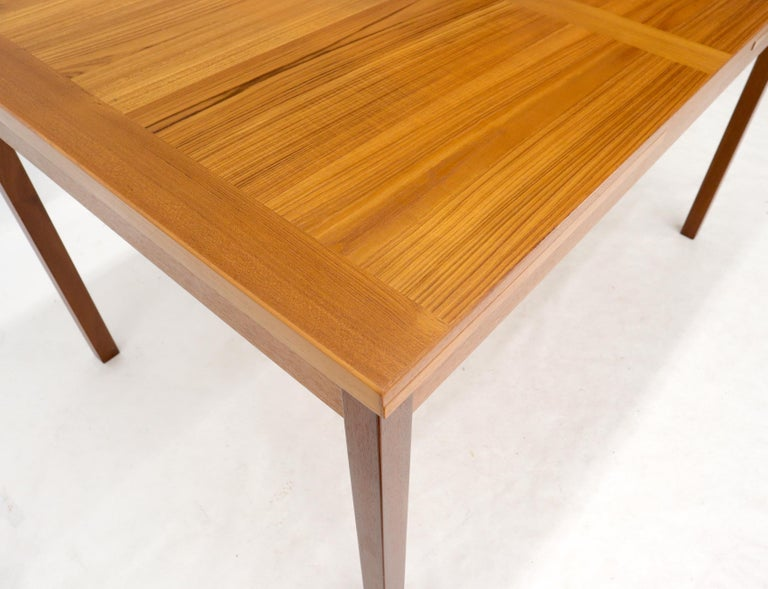 Danish Mid-Century Modern Teak Refectory Dining Table Leaves For Sale 4