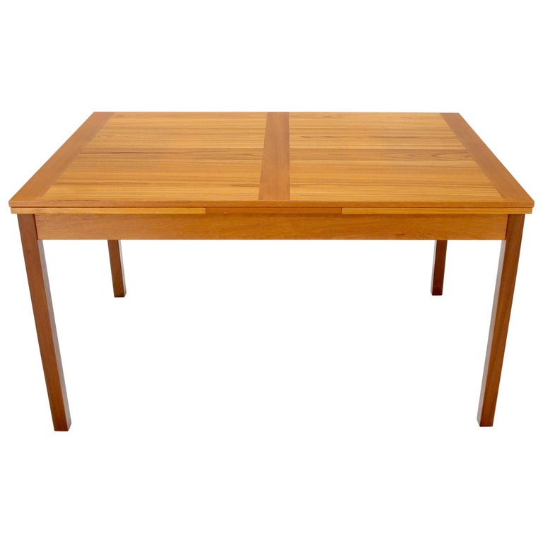 Danish Mid-Century Modern Teak Refectory Dining Table Leaves For Sale