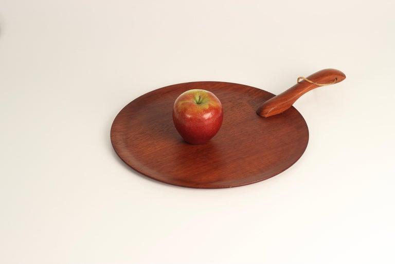 Danish Mid-Century Modern Teak Serving Plate or Cheese Board Similar to Bojesen For Sale 13