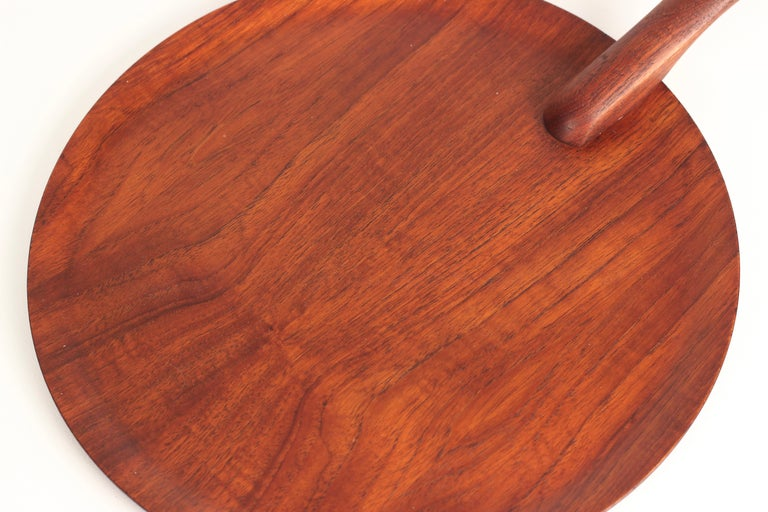 Danish Mid-Century Modern Teak Serving Plate or Cheese Board Similar to Bojesen For Sale 14