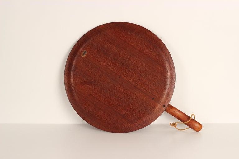 Danish Mid-Century Modern Teak Serving Plate or Cheese Board Similar to Bojesen For Sale 4