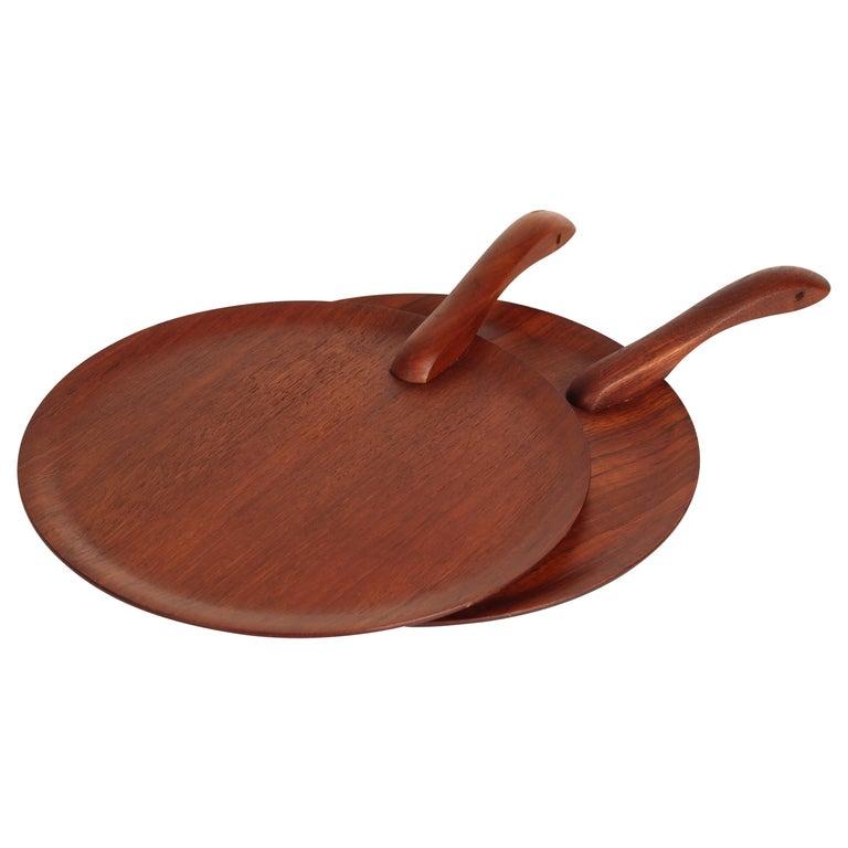 Danish Mid-Century Modern Teak Serving Plate or Cheese Board Similar to Bojesen For Sale