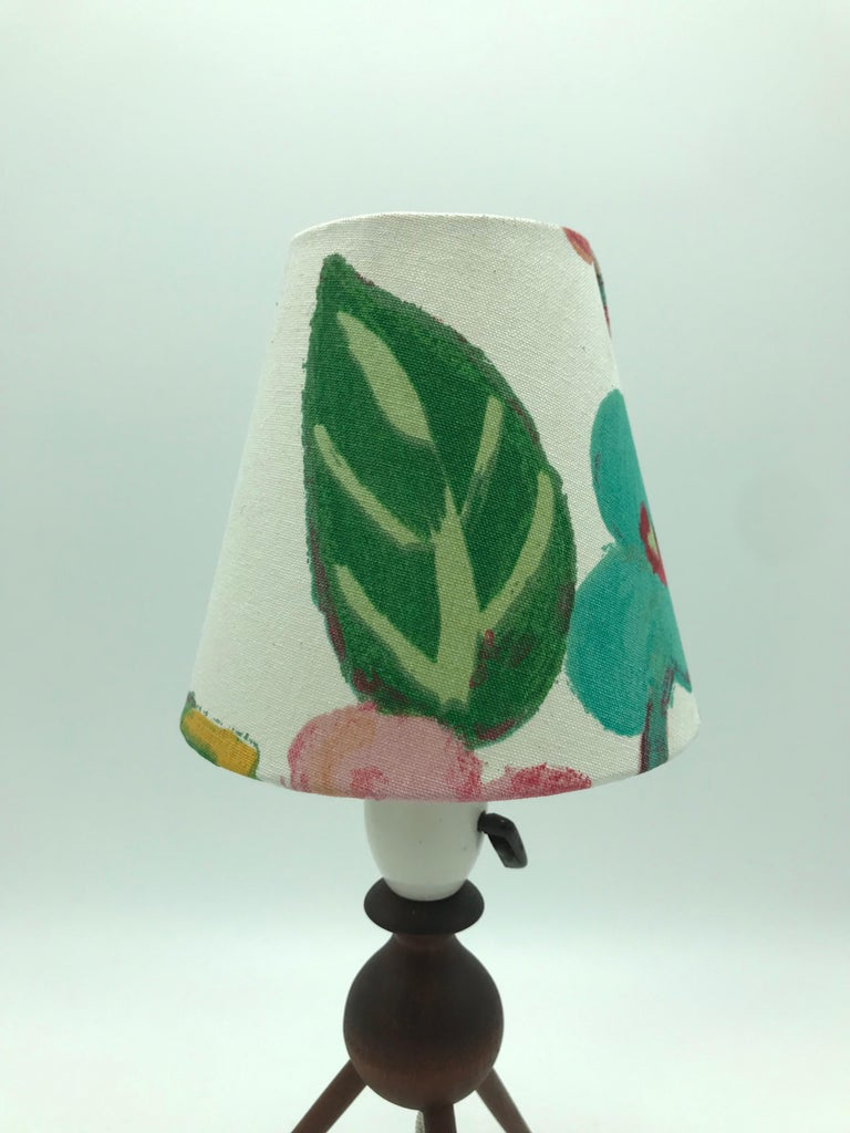 Danish Mid-Century Modern Teak Table Lamp with ArtbyMaj Lampshade For Sale 2