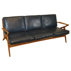 Danish Mid-Century Modern Teak Three Cushion Z Sofa by Poul Jensen for Selig