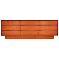 Danish Mid-Century Modern Teak Triple Dresser