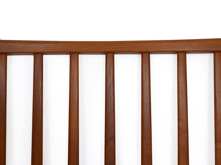 Danish Mid-Century Modern Teak Twin Bed Headboard by Folke Ohlsson, circa 1960s For Sale 1