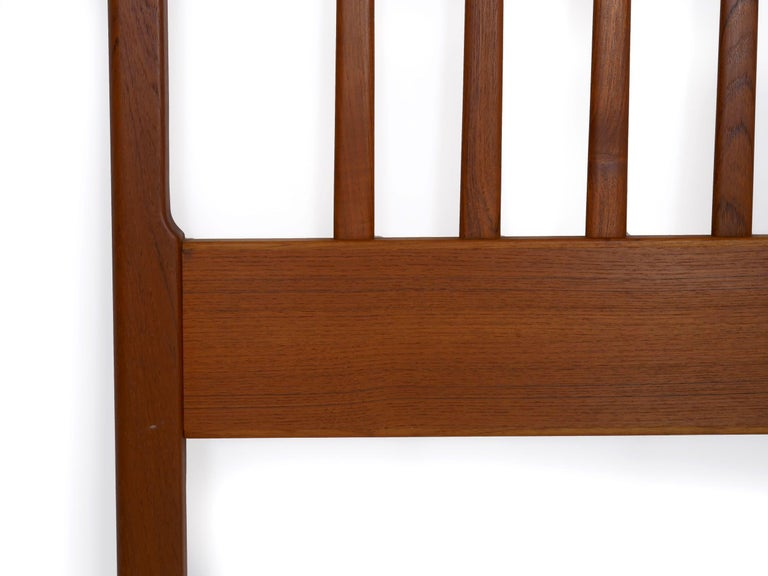 Danish Mid-Century Modern Teak Twin Bed Headboard by Folke Ohlsson, circa 1960s For Sale 2