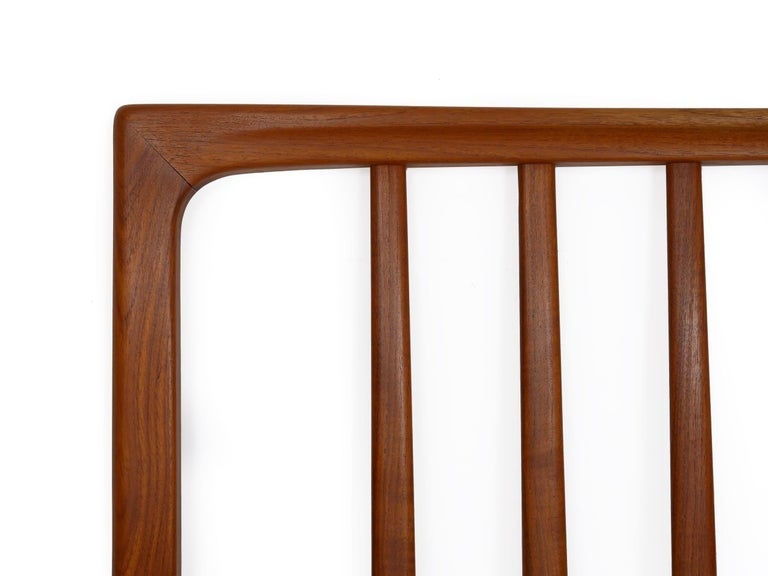 Danish Mid-Century Modern Teak Twin Bed Headboard by Folke Ohlsson, circa 1960s For Sale 4