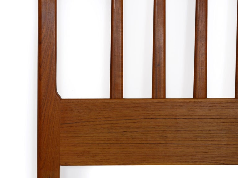 Danish Mid-Century Modern Teak Twin Bed Headboard by Folke Ohlsson, circa 1960s For Sale 5