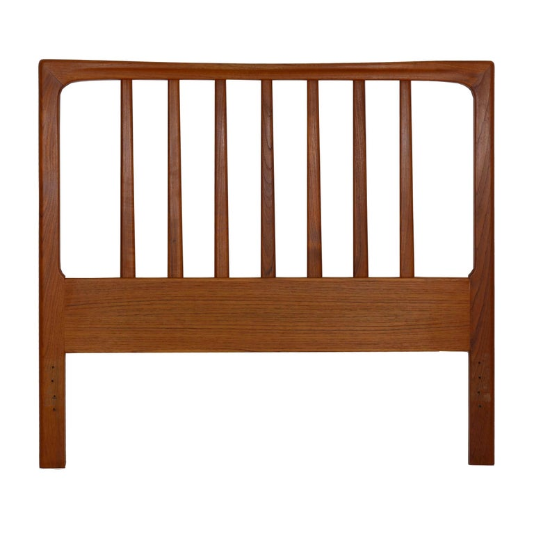 Danish Mid-Century Modern Teak Twin Bed Headboard by Folke Ohlsson, circa 1960s For Sale