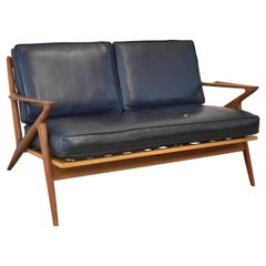 Danish Mid-Century Modern Teak Two Cushion Z Sofa by Poul Jensen for Selig