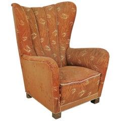 Danish Mid-Century Modern Wingback Chair