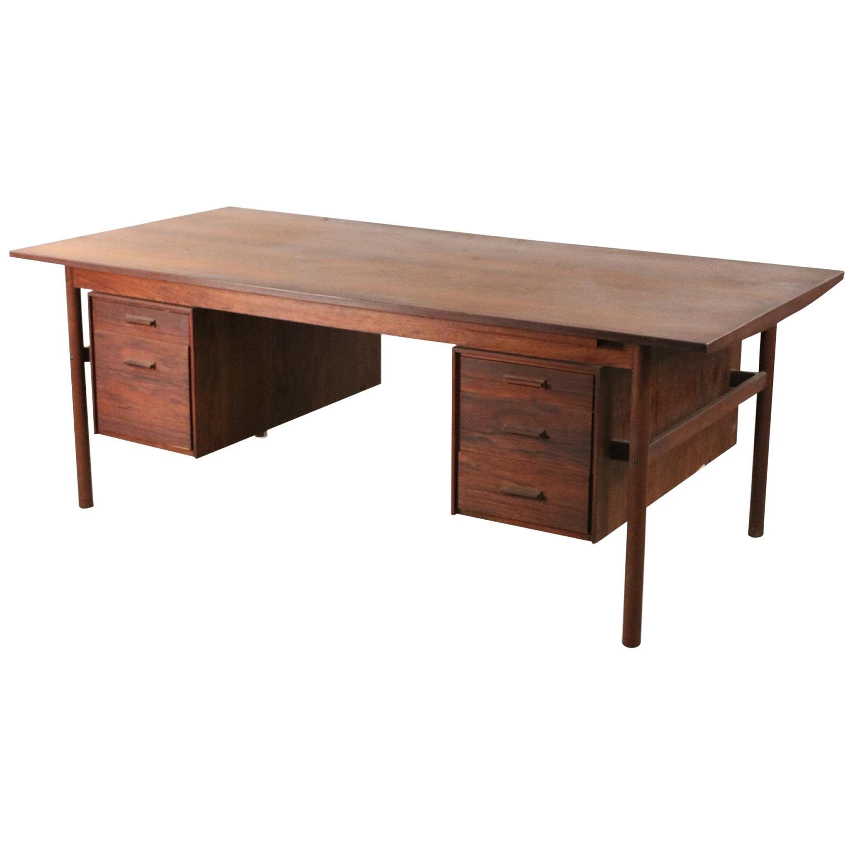 Danish Mid-Century Modern Wood Desk