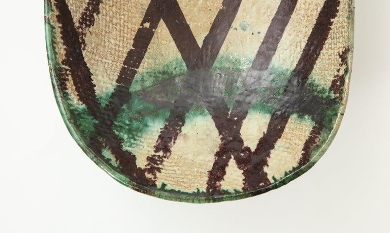 Danish Midcentury Oblong Ceramic Bowl by Allan Ebeling, 1957 For Sale 4